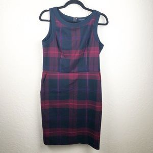 Tommy Hilfiger plaid shift dress career wear